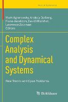 Complex Analysis and Dynamical Systems: New Trends and Open Problems - Trends in Mathematics (Paperback)
