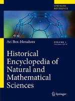 Historical Encyclopedia of Natural and Mathematical Sciences (Hardback)