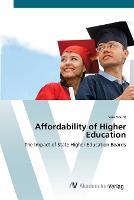 Affordability of Higher Education (Paperback)