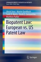 Biopatent Law: European vs. US Patent Law - SpringerBriefs in Biotech Patents (Paperback)