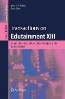 Transactions on Edutainment XIII - Transactions on Edutainment 10092 (Paperback)