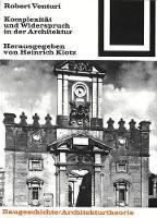 Komplexitat und Widerspruch - Bauwelt Fundamente (Paperback)