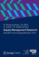 Supply Management Research: Aktuelle Forschungsergebnisse 2012 (Paperback)