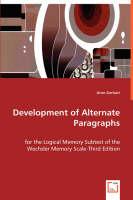 Development of Alternate Paragraphs (Paperback)