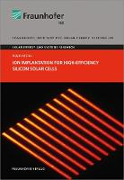Ion Implantation for High-Efficiency Silicon Solar Cells. - Solare Energie- Und Systemforschung (Paperback)