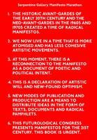 Serpentine Gallery Manifesto Marathon (Paperback)