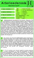 Arteriosclerosis - Nutrition Card
