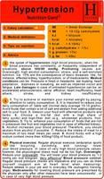 Hypertension - Nutrition Pocket Card