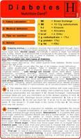 Diabetes - Nutrition Pocket Card