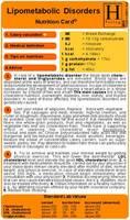 Lipometabolic Disorders - Nutrition Card