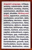 Anguish Language: Writing and Crisis (Paperback)