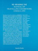 Re-Reading the Manual of Travelling Exhibitions (Paperback)