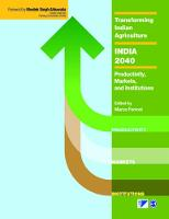 Transforming Indian Agriculture-India 2040