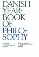 Danish Yearbook of Philosophy: Volume 27 (Paperback)