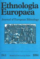 """Ethnologia Europaea: 1994 v. 24:1: Journal of European Ethnology - """"Ethnologia Europaea: Journal of European Ethnology"""" v. 24:1 (Paperback)"""