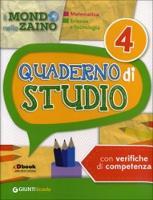 Il Mondo nello zaino: Quaderno di studio 4 - Matematica, Scienze, Tecnologia (Paperback)
