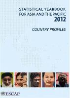 Statistical yearbook for Asia and the Pacific 2012