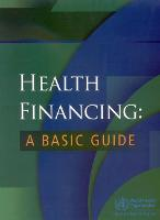 Health Financing: A Basic Guide (Paperback)