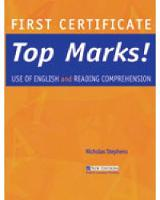 FC Top Marks! Use of English and Reading Comprehension: First Certificate Top Marks! Use of English and Reading Comprehension Student's Book (Paperback)