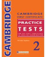 Cambridge FCE Practice Tests 2: Cambridge First Certificate Practice Tests 2 Student's Book (Paperback)