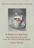 A Storm in a Tea-Cup