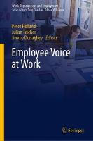 Employee Voice at Work - Work, Organization, and Employment (Hardback)