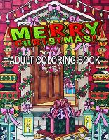Merry Christmas Adult Coloring Book (Paperback)