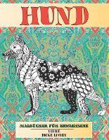 Malbucher fur Erwachsene Entspannend - Dicke Linien - Tiere - Hund (Paperback)