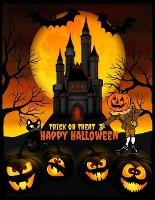 Trick or Treat - Happy Halloween: Halloween Coloring Book For Adults: Halloween Adult Coloring Book (Happy Halloween Designs 2020), Fantasy Graphics, Holidays Books Featuring - Witches, Haunted Houses, Vampires, Autumn Fairies, Jack-o-Lanterns, Ghosts. - Halloween Coloring Books for Adults Vol. 1 (Paperback)