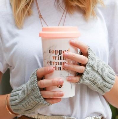 Warm Hands Warm Heart Travel Mug & Fingerless Gloves: Zoella Lifestyle Range