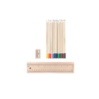 Wood Box Colour Pencil Set