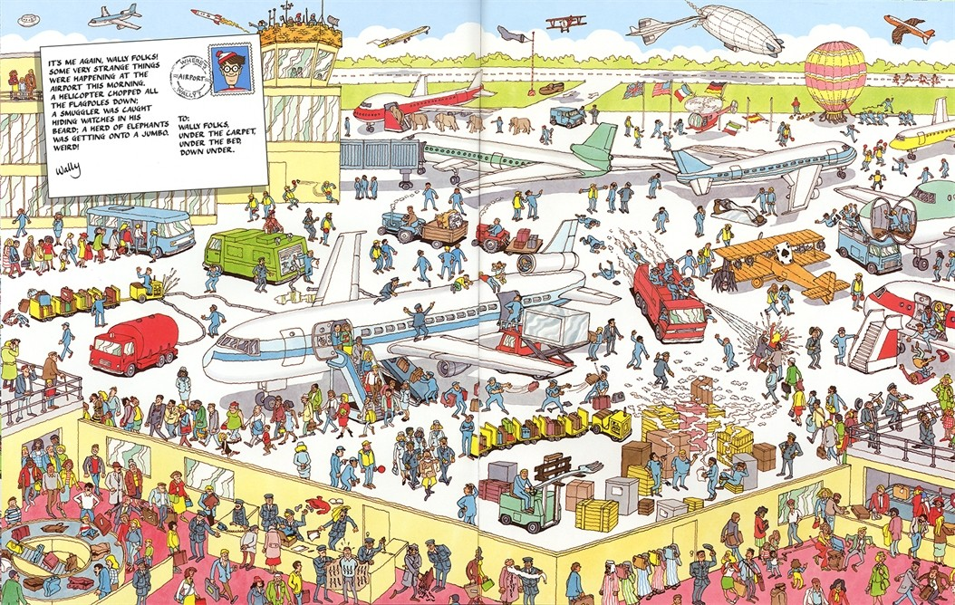 Wheres wally by martin handford waterstones wheres wally altavistaventures Choice Image