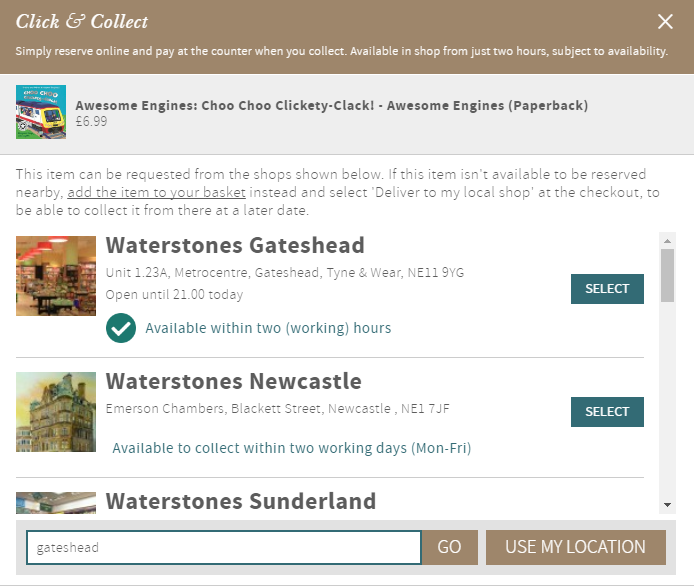 1246a2f1cd Click And Collect | Waterstones.com Help | Waterstones
