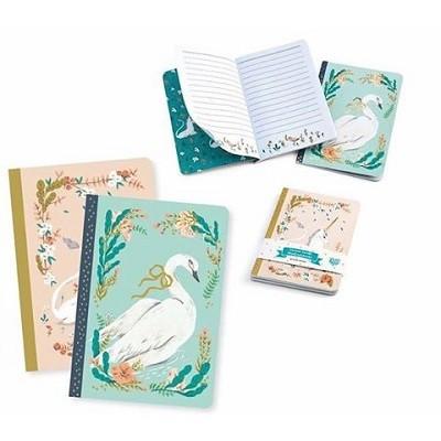 Unicorn And Swan Notebooks