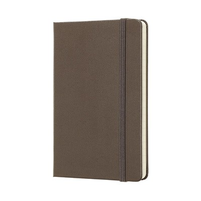 Earth Brown Ruled Hard Notebook Pocket