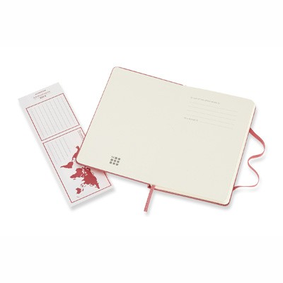 Daisy Pink Ruled Hard Notebook Pocket
