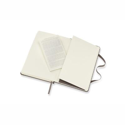Earth Brown Plain Hard Notebook Pocket
