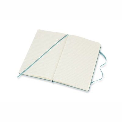 Reef Blue Ruled Hard Notebook Large