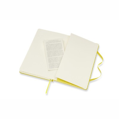 Dandelion Yellow Ruled Hard Notebook Large
