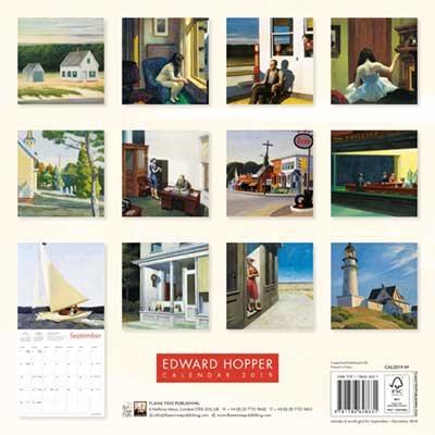 Edward Hopper Wall Calendar 2019 (Art Calendar) (Calendar)