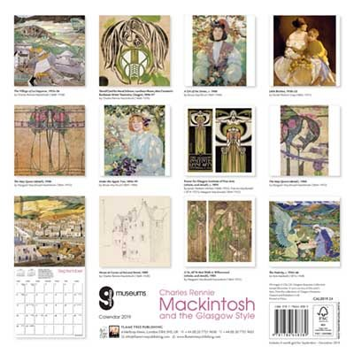 Glasgow Museums - Mackintosh & the Glasgow Style 2019 (Art Calendar) (Calendar)