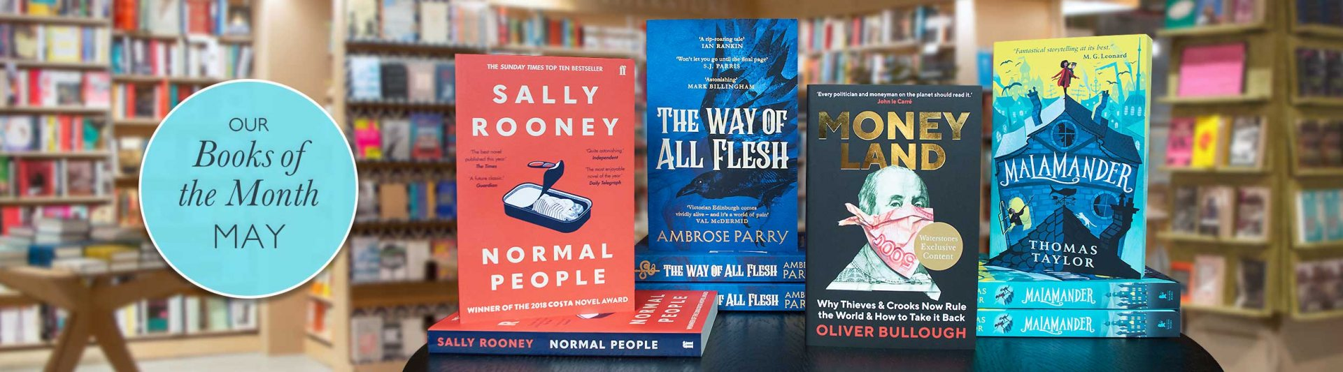 Waterstones Books of the Month 2019 May