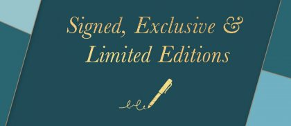 Signed, Exclusive & Limited Editions