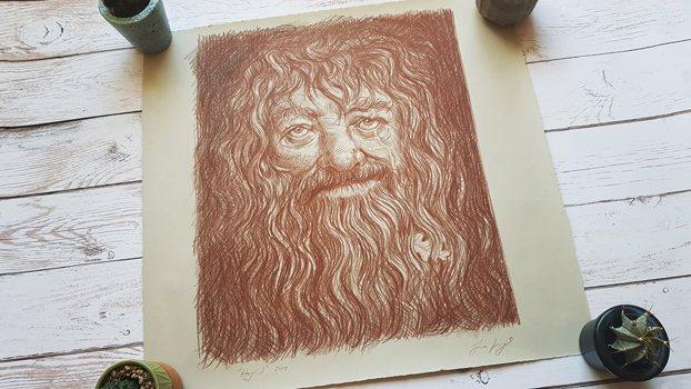 Hagrid by Jim Kay