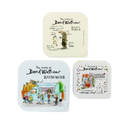David Walliams Set Of 3 Lunchboxes