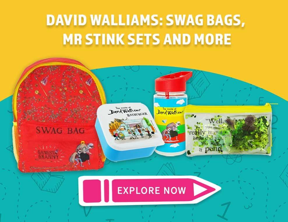 David Walliams: Swag Bags, Mr Stink Sets and More