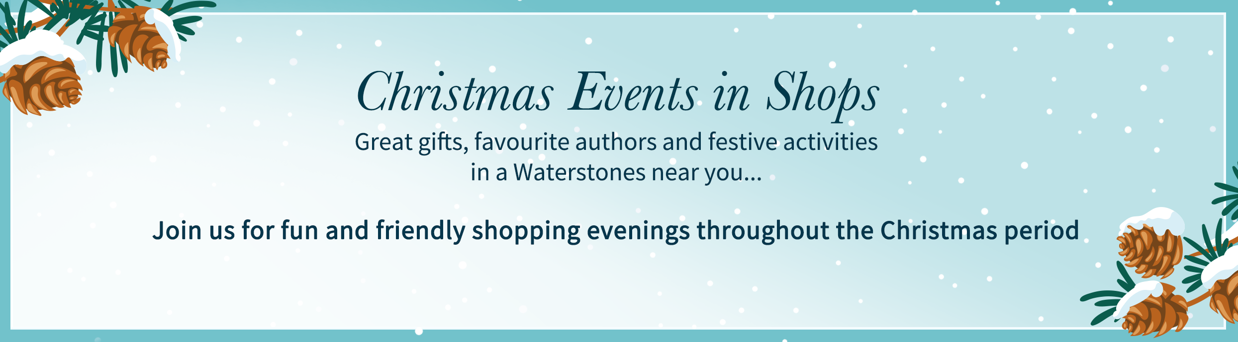 Christmas Evenings at Waterstones