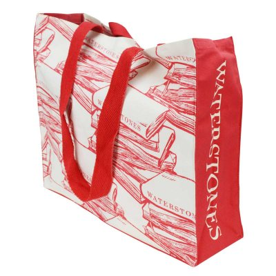 Waterstones Red Cloth Bag