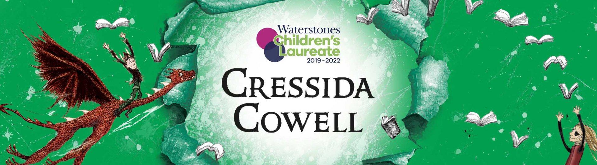 Waterstones Children's Laureate 2019 - 2022 Cressida Cowell