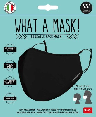 Black washable face mask